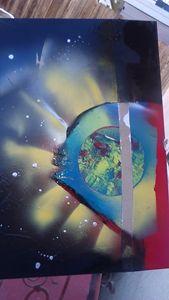 Earthy vibes spray paint art