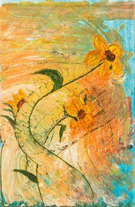Sunflower in the wind