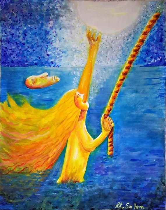 Reaching the moon - Mohamed Salem