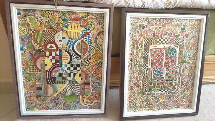 abstrait peinture - Khattou Gallery