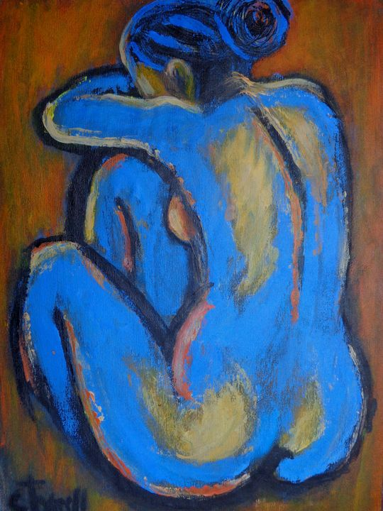 Blue Back 1 - Female Nude - Carmen Tyrrell