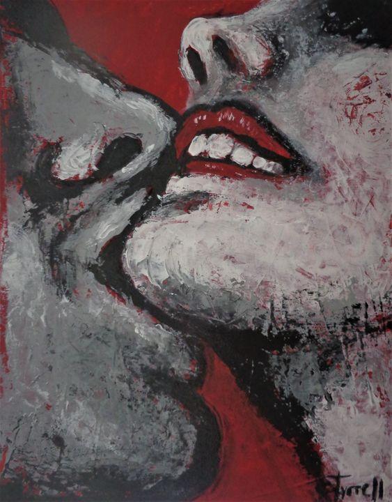 "NEW original acrylics painting ""Love - Carmen Tyrrell"