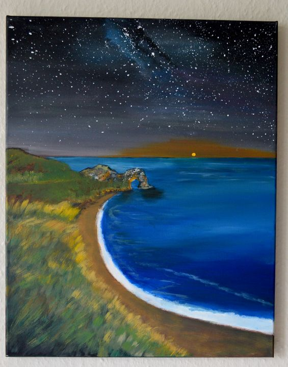 Seascape at night - ArtByTamanaPathak