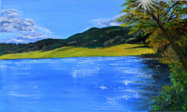 Blue Lake - ArtByTamanaPathak