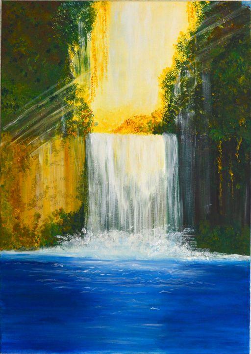 Waterfall paradise - ArtByTamanaPathak