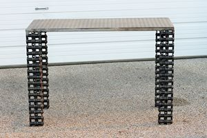 Industrial metal Sofa Table
