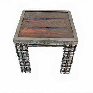 Wood Metal Furniture End Table