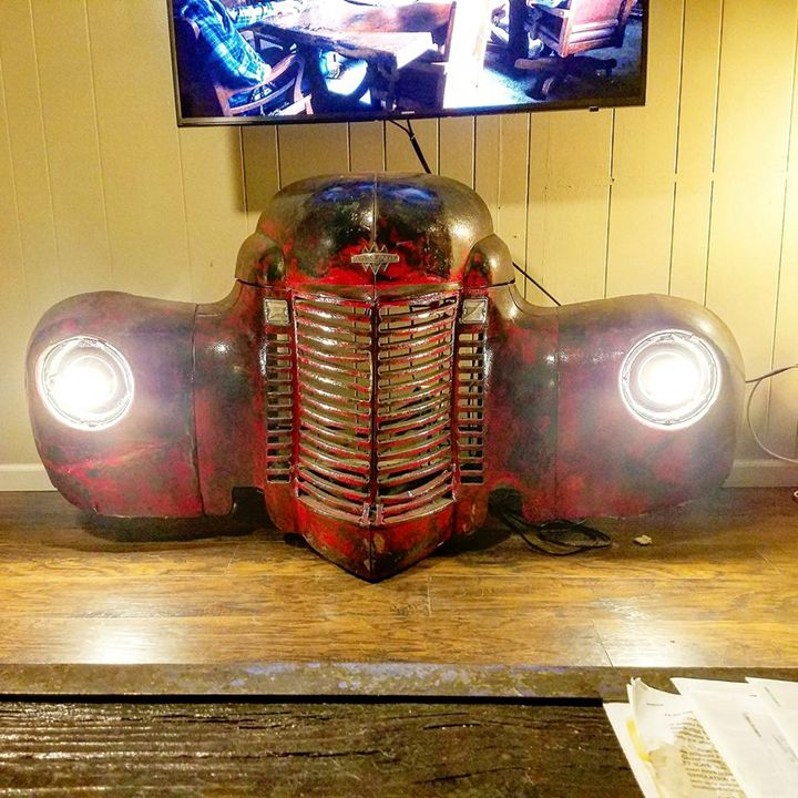 Car Part Automobile Furniture - Raymond Guest Metal Art at Recycled Salvage Design
