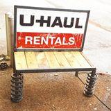 Recycled U Haul Garden Bench