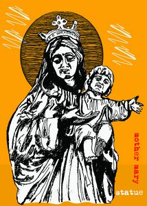 mother mary with jesus sketch art