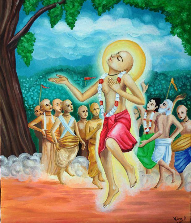 Lord Sri Krishna Chaitanya - Oil paintings from Japan