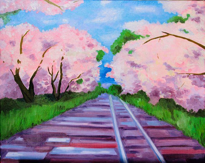 Sakura Cherry bloom - Oil paintings from Japan