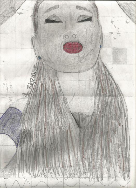 Ariana Grande Pencil Drawing #1 - Jericho- AG Pencil Drawings