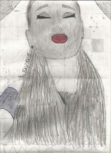 Ariana Grande Pencil Drawing #1