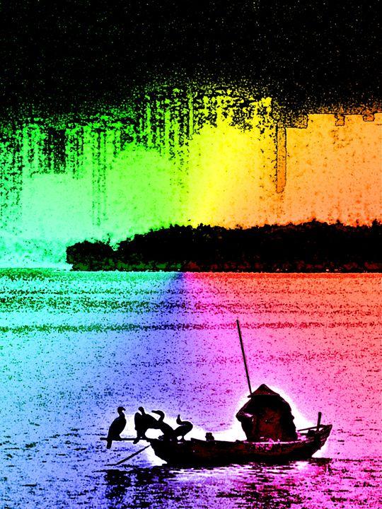 Multicolor Fisherman - NickRockDesigns