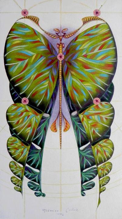 Fibonacci butterfly (ORIGINAL SOLD) - federico cortese