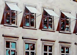 Windows in Kultorvet, Copenaghen