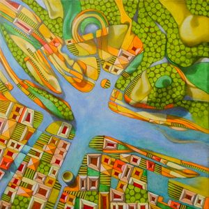 Imaginary map of Turin
