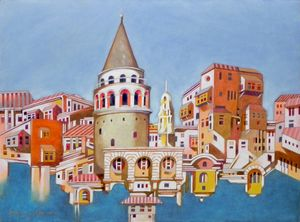 memory of Istanbul, Galata Tower - federico cortese