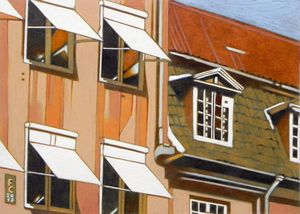 windows in Norreport, Copenaghen