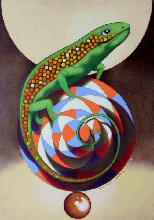Lizard of the circus - federico cortese