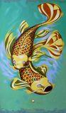 Original painting, fish