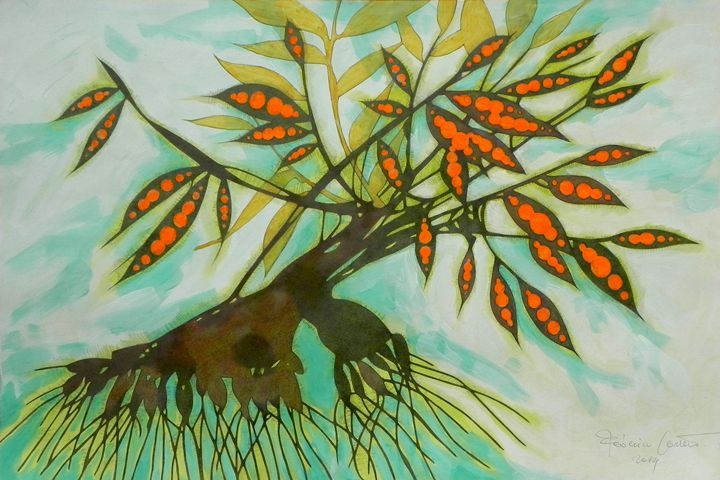 Withered tree (original sold) - federico cortese