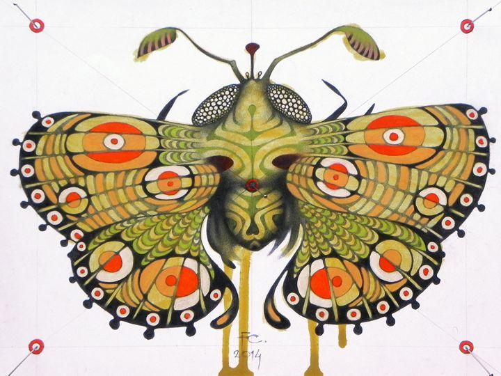 moth (original sold) - federico cortese