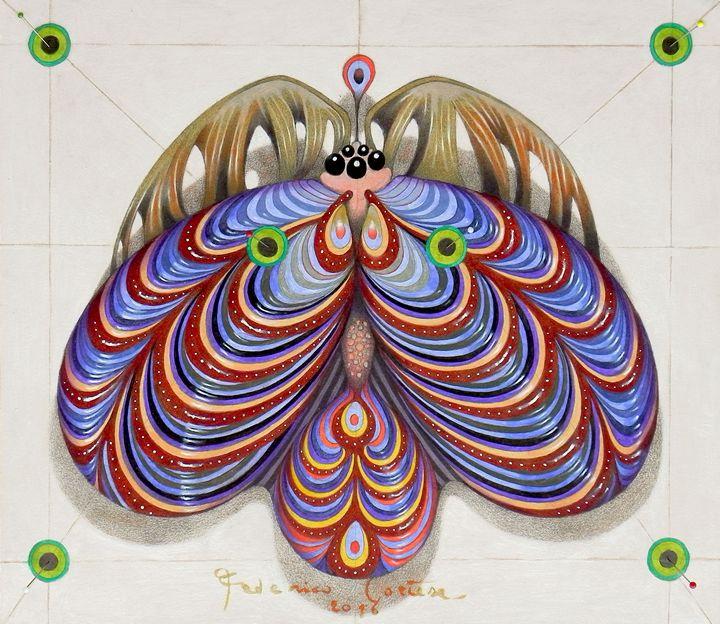 moth of darkness (original sold). - federico cortese