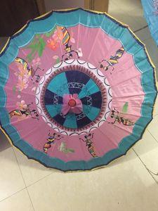 Painted Umbrella. Gift. Hand painted - Paint Brush