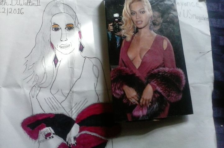 a picture of beyonce on us magazine - iPhone art auction
