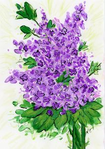 Lilac Bloom - Happy Place Art