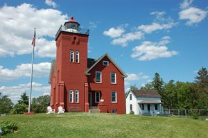Lighthouse in Two Harbors MN