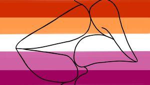 lgbt flag 'kiss'