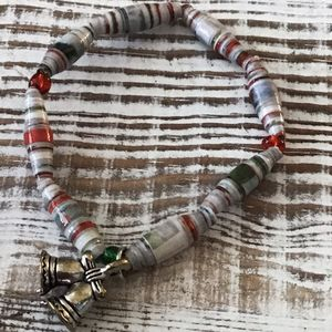Small elastic Christmas bracelet - Bluebirdbeadsbysue