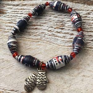 silver mittens bracelet - Bluebirdbeadsbysue