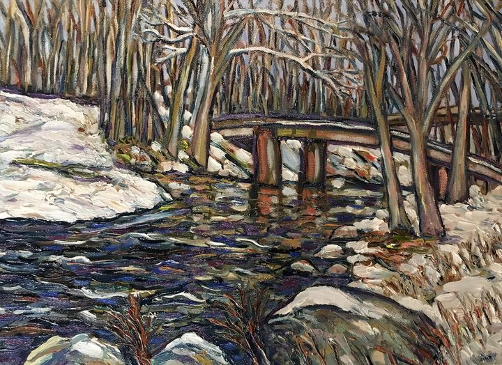 Tin Bridge Winter - Richard Nowak Fine Art