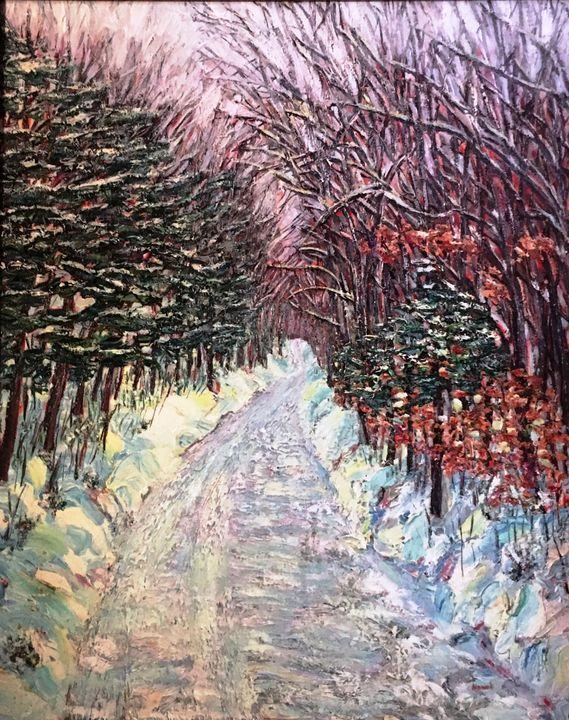 Mt. Tom Winter Road - Richard Nowak Fine Art