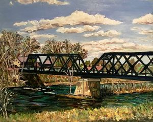Railroad Bridge-Autumn View