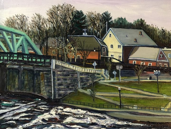 End of Bridge, Westfield- March Day - Richard Nowak Fine Art
