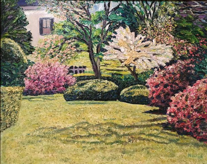 Veterans Park Spring - Richard Nowak Fine Art