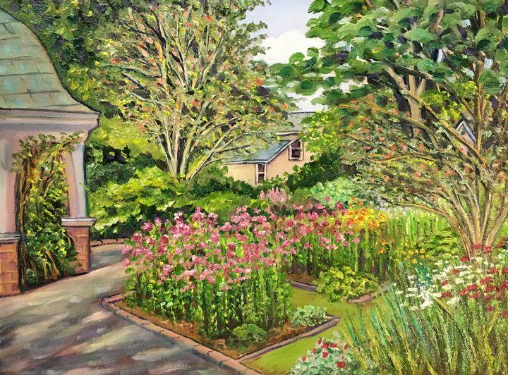 Saturday, Grandmother's Garden - Richard Nowak Fine Art
