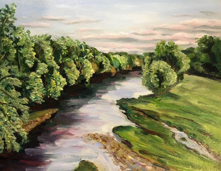 Westfield River, August Evening - Richard Nowak Fine Art
