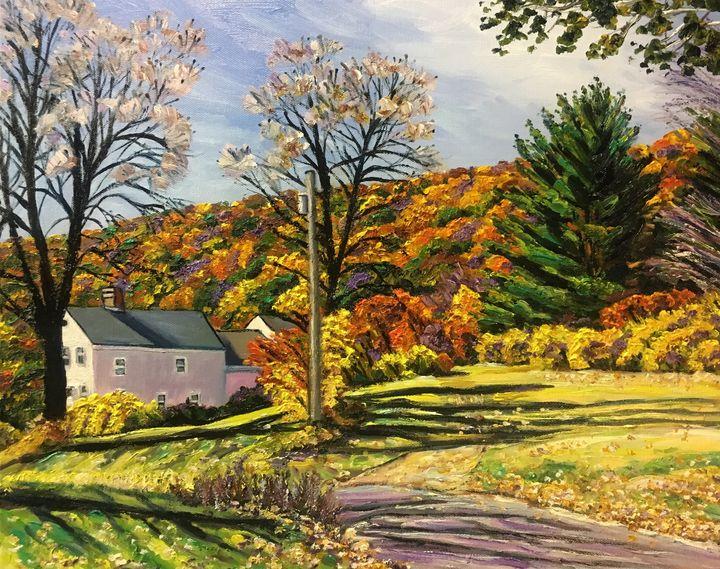 Autumn Along Honey Pot Road - Richard Nowak Fine Art