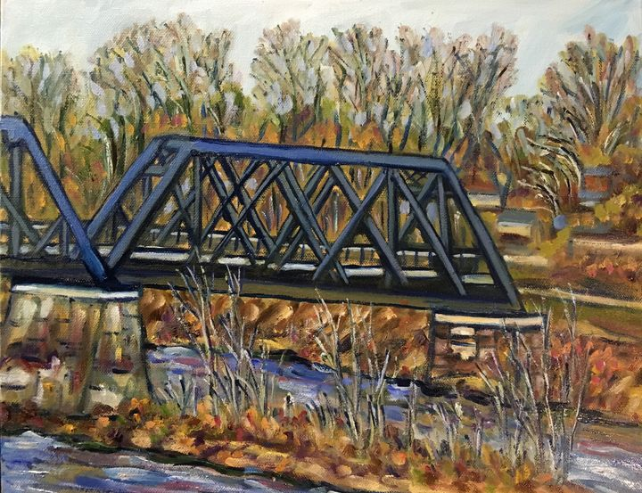 Black Bridge Winter - Richard Nowak Fine Art