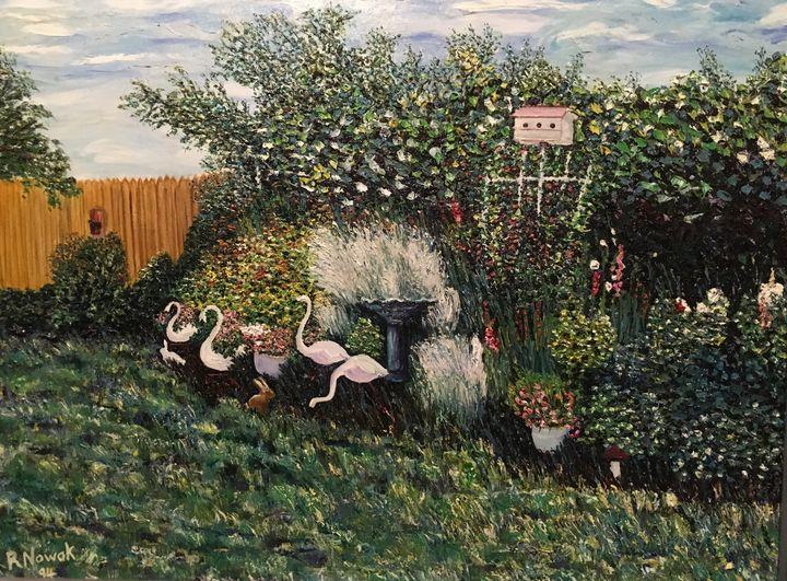 Dad's Backyard Garden - Richard Nowak Fine Art