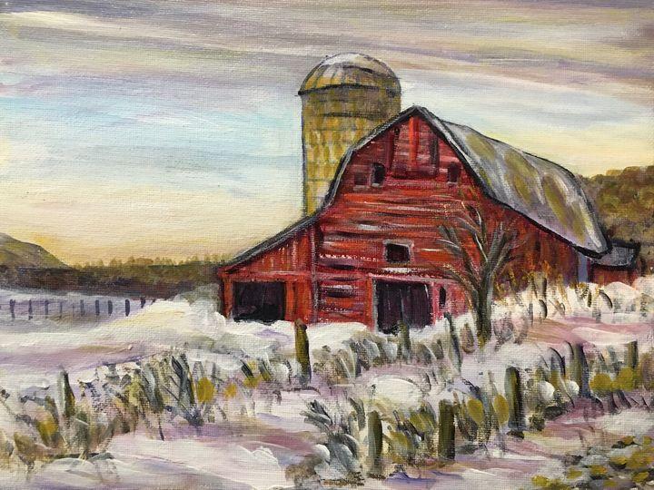 New England Winter Barn - Richard Nowak Fine Art