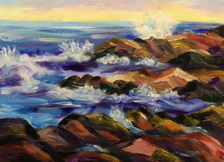 Crashing Waves on Maine Coast - Richard Nowak Fine Art