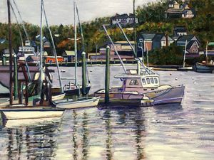 Gloucester Boats in Harbor