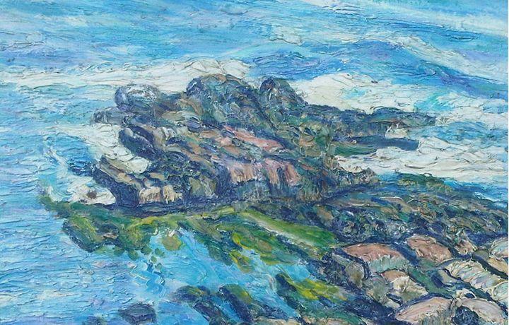 Looking Down at Maine Rocks - Richard Nowak Fine Art